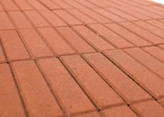 Тротуарная плитка Прямоугольник, Оранжевый, 200х50, h=60 мм
