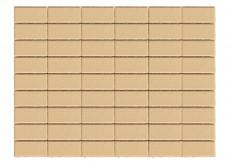 Тротуарная плитка Прямоугольник, Песочный, h=60 мм