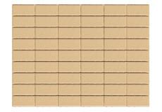 Тротуарная плитка Прямоугольник, Песочный, h=40 мм