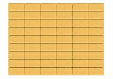 Тротуарная плитка Прямоугольник, Желтый, h=60 мм