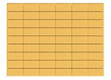 Тротуарная плитка Прямоугольник, Желтый, h=40 мм