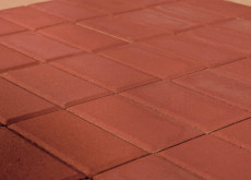 Тротуарная плитка Прямоугольник, Красный, h=60 мм