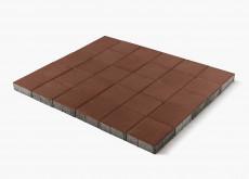 Тротуарная плитка Лувр, Коричневый, 200х200, h=60 мм