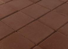 Тротуарная плитка Лувр, Коричневый, 100х100, h=60 мм