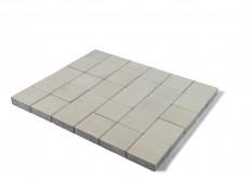 Тротуарная плитка Лувр, Белый, 200х200, h=60 мм