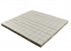 Тротуарная плитка Лувр, Белый, 100х100, h=60 мм