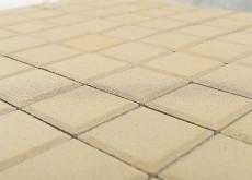 Тротуарная плитка Лувр, Песочный, 200х200, h=60 мм