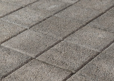 Тротуарная плитка Лувр, Гранит серый, h=60 мм
