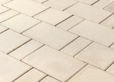 "Тротуарная плитка Старый город ""Ландхаус"", Белый, h=60 мм"