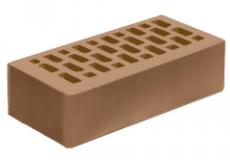 Голицинский КЗ кирпич облицовочный пустотелый 1НФ, Гляссе гладкий 250х120х65 мм.