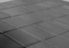 Тротуарная плитка Прямоугольник, Серый, h=40 мм, двухслойная