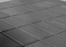 Тротуарная плитка Прямоугольник, Серый, h=80 мм, двухслойная
