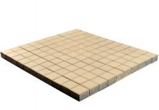 Тротуарная плитка Лувр, Песочный, 100х100, h=60 мм