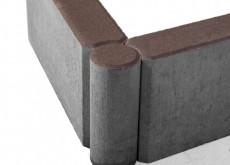Бордюр тротуарный шарнирный БРШ 500*200*78  коричневый