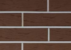 КЕРМА кирпич облицовочный пустотелый 1 НФ, терракот коричневый рустик М-150, 250х120х65 мм