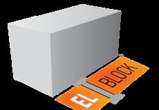 Газобетонный блок стеновой D400  EL-BLOCK