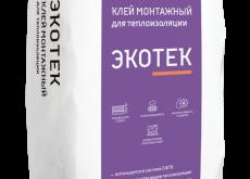 Клей монтажный для теплоизоляции Экотек Зимняя серия, 25 кг