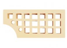 """Кирпич КФ """"Слоновая кость"""" одинарный пустотелый М-150-200, Железногорский КЗ, 250x120x65 мм"""