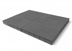 Тротуарная плитка Сити, серый, h=80 мм