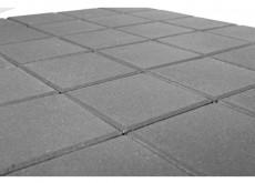 Тротуарная плитка Лувр 400, Серый, h=60 мм