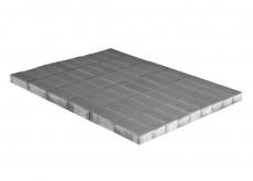 Тротуарная плитка Прямоугольник, Серый, h=70 мм, двухслойная