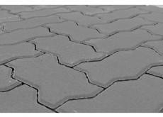 Тротуарная плитка Волна, Серый, h=70 мм