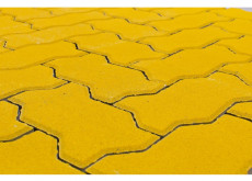 Тротуарная плитка Волна, Желтый, h=70 мм