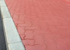 Тротуарная плитка Волна, Красный, h=70 мм